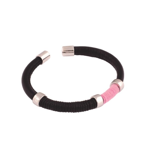 Pulsera unisex negro - rosa