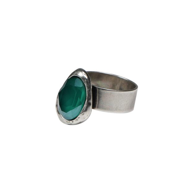 anillo ajustable verde