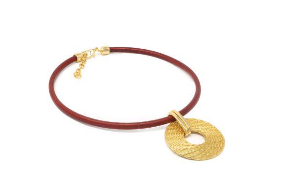 Collar circular grabado cestería