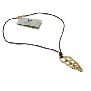 collar caracola dorado G1