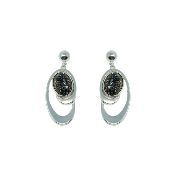 Pendientes plata con cristal Swarovski®Elements