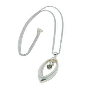 Collar en plata Rombo DUETTO con cristales Swarovski®