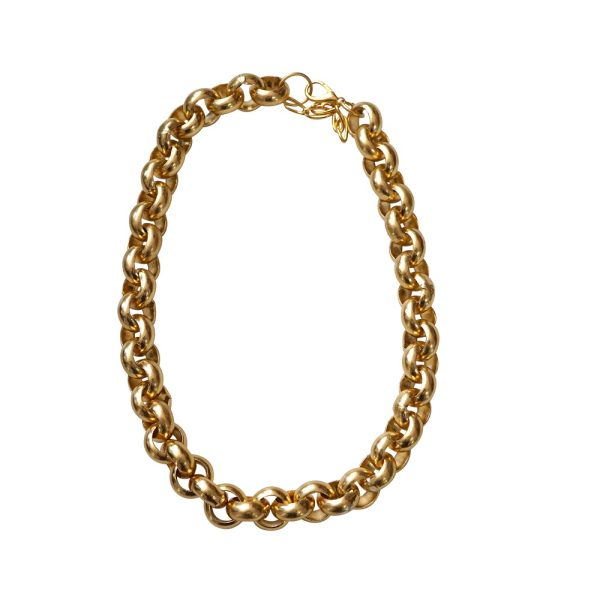 Collar de cadena bañado en oro