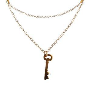 Collar de doble cadena con llave MAGIC