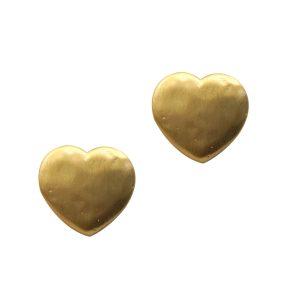Pendientes bañados en oro con corazón MAGIC