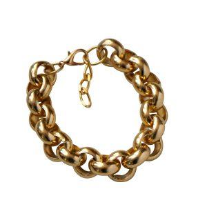 Pulsera de cadena bañada en oro