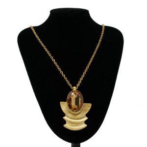 Collar egipcio en oro mate NATURE