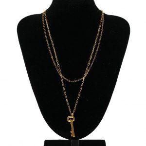 Collar doble cadena llave NATURE