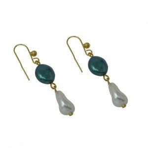 Pendientes con dos perlas NATURE